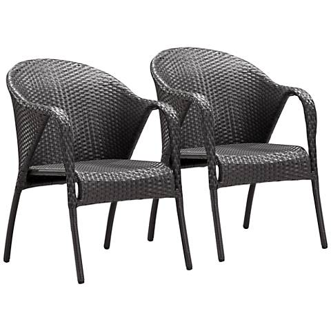 Zuo Modern Montezuma Weave Outdoor Armchair Set of 2