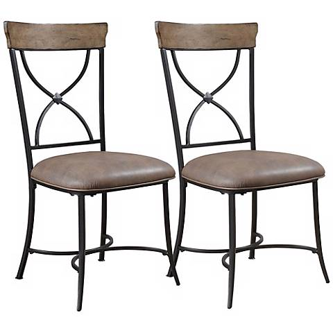 Hillsdale Charleston Set of 2 X-Back Metal Dining Chairs
