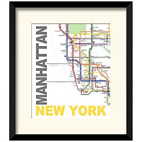 """Subway A 17 1/2"""" High New York Wall Art"""