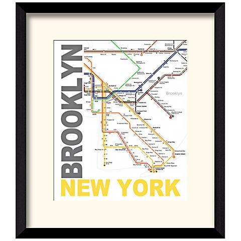 "Subway B 17 1/2"" High New York Wall Art"