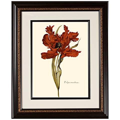"Warm Floral B 23 3/4"" High Framed Botanical Wall Art"