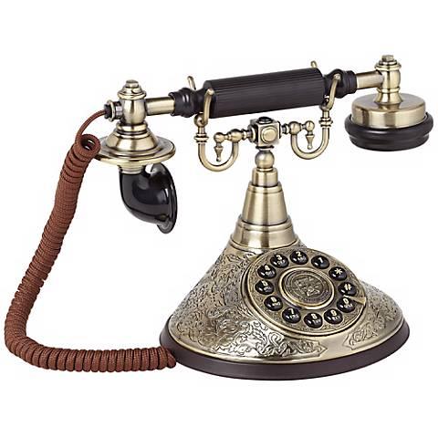 Antique Brass Cradle Phone