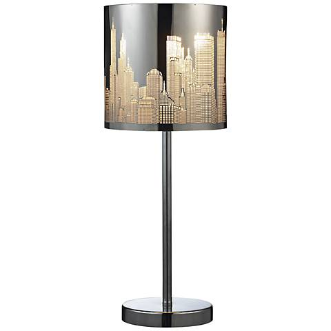 Dimond Skyline Polished Steel Accent Table Lamp