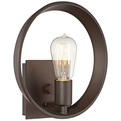 """Quoizel Uptown Theater Row 10"""" Wide Bronze Wall Sconce"""