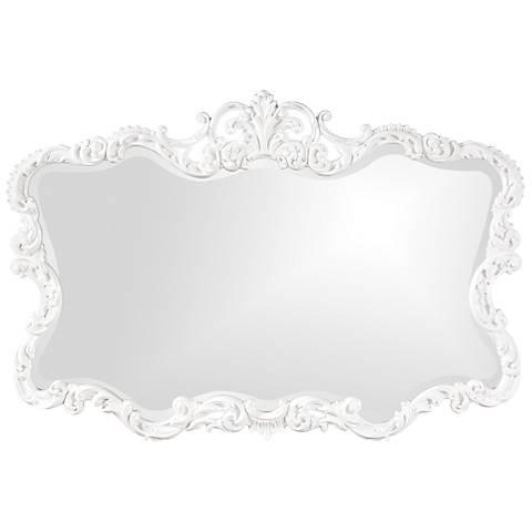 "Howard Elliott Talida 38"" x 27"" White Wall Mirror"