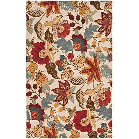 Safavieh BLM863B Blossom Collection Wool Rug
