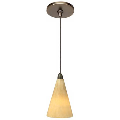 "LBL Onyx 3 3/4"" Wide Cone Bronze Mini Pendant"