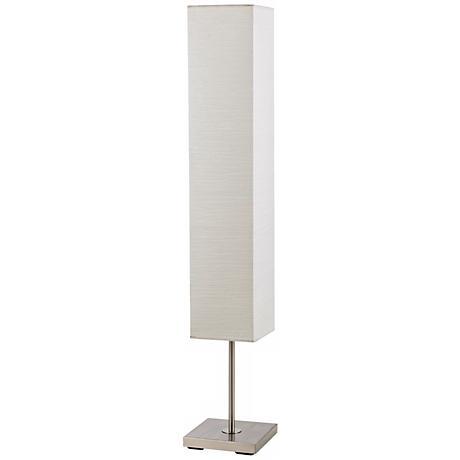 sullivan brushed steel box shade floor lamp w1937 lamps plus. Black Bedroom Furniture Sets. Home Design Ideas