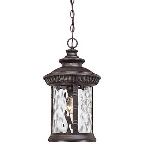 "Quoizel Chimera 19""H Bronze Outdoor Pendant Light"