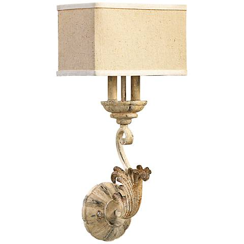 "Quorum Florence 22 3/4"" High Persian White Sconce"