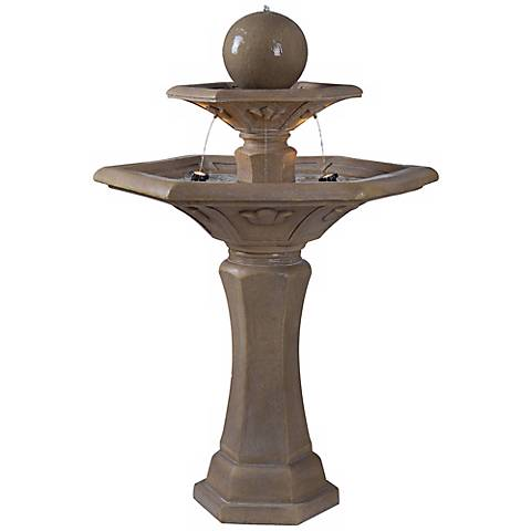 "Provence 3-Tier 57"" High Outdoor Garden Fountain with Lights"