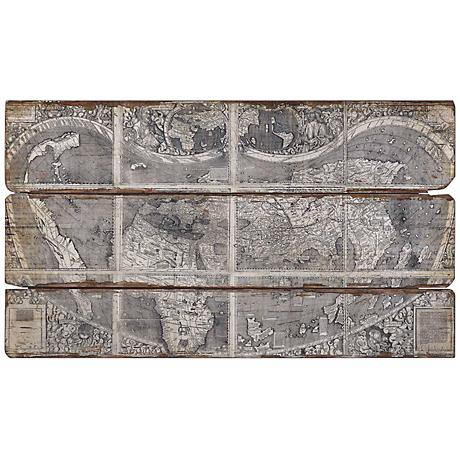"""Uttermost 47"""" Wide Map of the City Wall Art"""