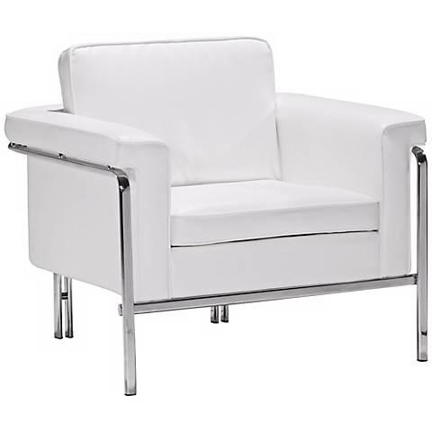 Zuo Modern Singular White Armchair