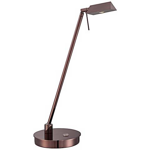 George Kovacs Chocolate Chrome Tented LED Desk Lamp