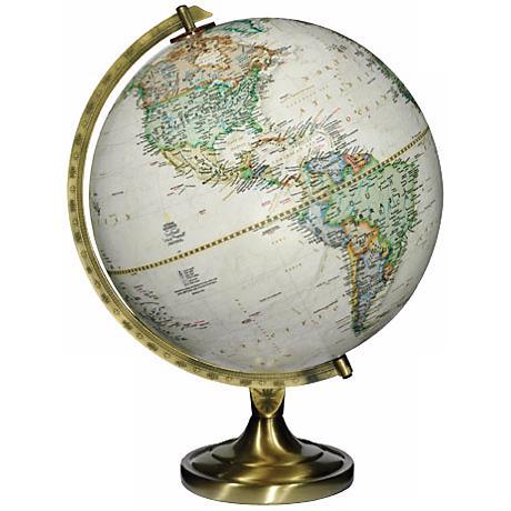 "Grosvenor Brown Ocean 16 1/2"" High National Geographic Globe"