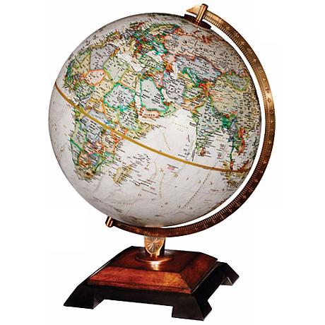 "Bingham Brown 16 1/2"" High National Geographic Globe"
