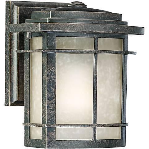 """Quoizel Galen Bronze 7 1/2"""" High Outdoor Wall Lantern"""