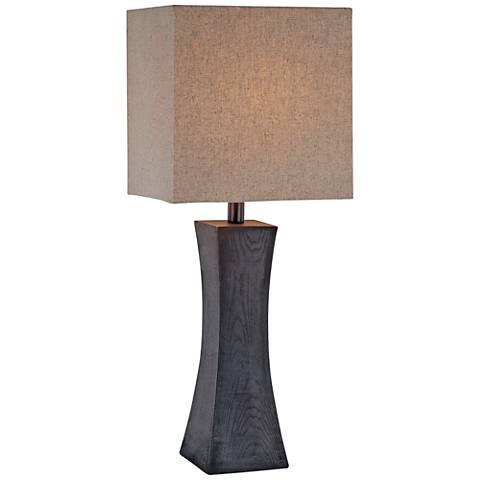 Lite Source Enkel Dark Walnut Concave Column Table Lamp