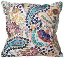 "Colorful Paisley 18"" Square Decorative Accent Pillow"