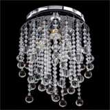 "Crystal Rain Collection 11 1/2"" Wide Chrome Ceiling Light"