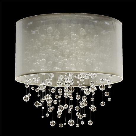 Silhouette 5-Light Sheer Organza Shade Ceiling Light