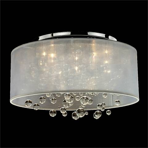 Silhouette 4-Light Wide Sheer Organza Shade Ceiling Light