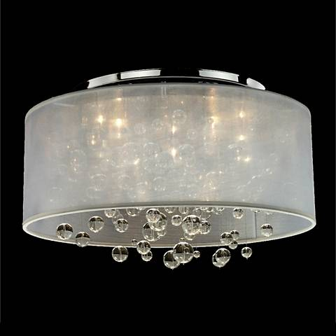 """Silhouette 21"""" Wide Sheer Organza Shade Ceiling Light"""