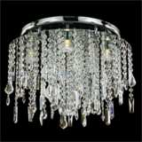 """Divine Ice 17 1/2"""" Wide Crystal Ceiling Light"""
