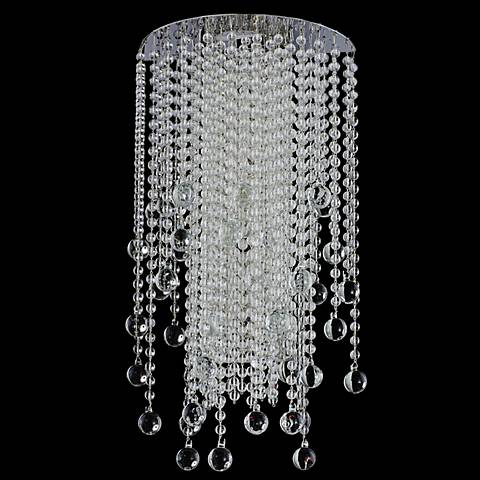 "Crystal Rain Collection 19"" High Chrome Sconce"