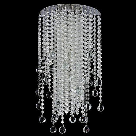 """Crystal Rain Collection 19"""" High Chrome Sconce"""