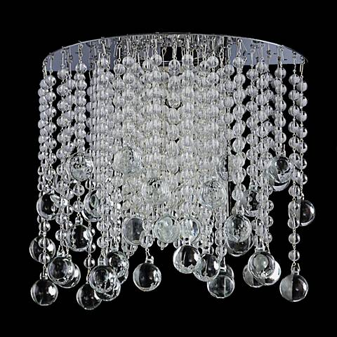 "Pristina Collection 9"" High Crystal Sconce"