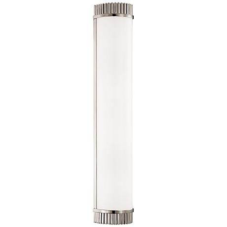 "Hudson Valley Benton 28"" High Polished Nickel Wall Sconce"