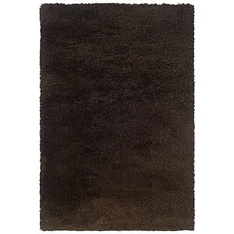 Soho Collection Brown/Black Shag Area Rug