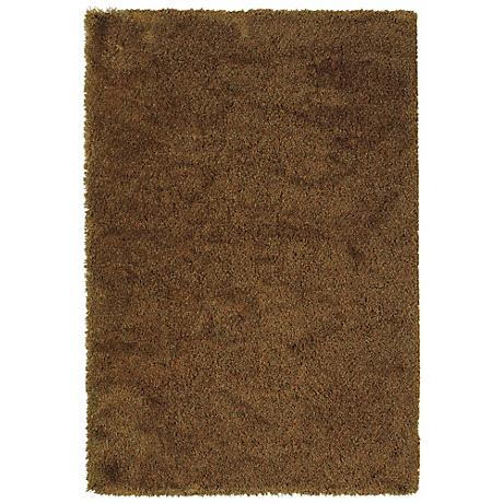 Soho Collection Rust/Gold Shag Area Rug