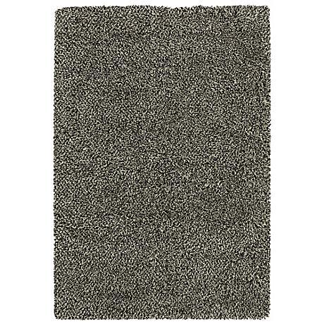 Soho Collection Black/Ivory Shag Area Rug