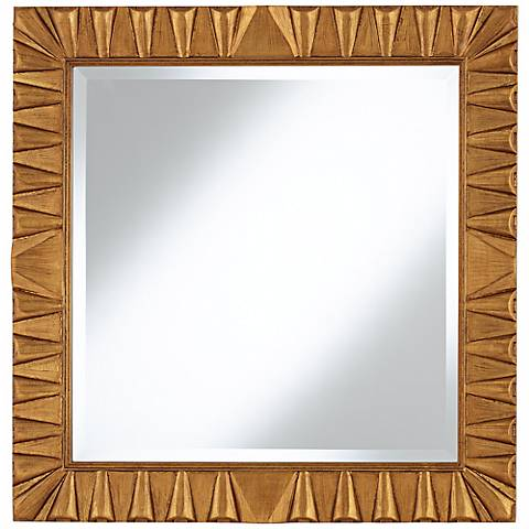 "Coba Antique Gold 30"" Square Wall Mirror"