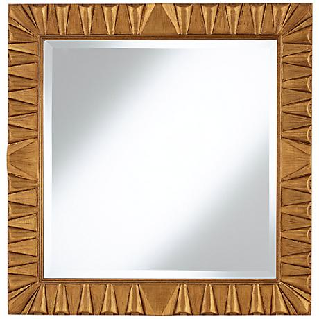 """Coba Antique Gold 30"""" Square Wall Mirror"""