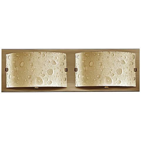 """Hinkley Daphne 16"""" Wide Brushed Bronze Bathroom Light"""