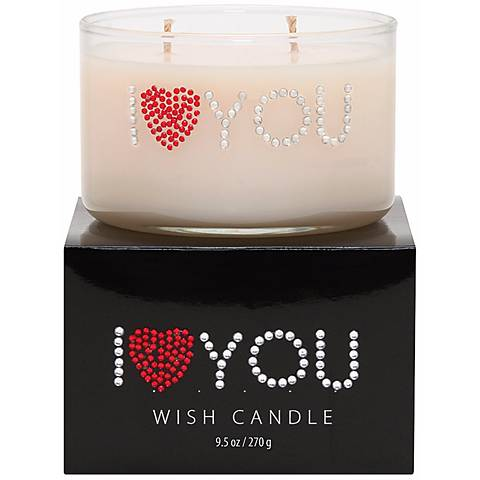 I Heart You Hand-Jeweled Wish Candle