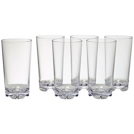 Set of 6 Vivaldi Clear Cooler Tumblers