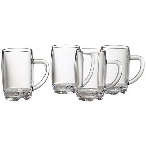 Set of 4 Vivaldi 15 Oz. Clear Beer Mugs