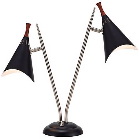 draper mid century modern desk lamp w4850 lamps plus. Black Bedroom Furniture Sets. Home Design Ideas