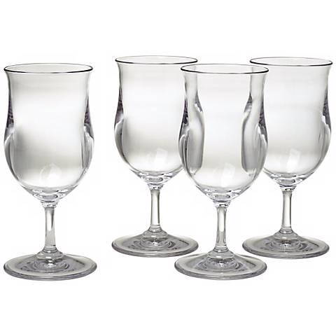 Set of 4 Pina Colada Glasses