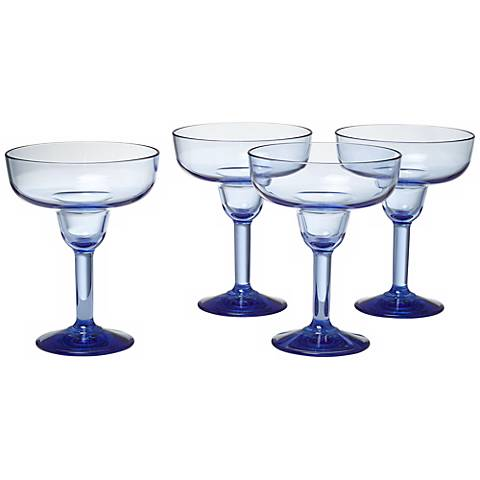 Pacific Blue 16 oz. Margarita Glass Set of 4