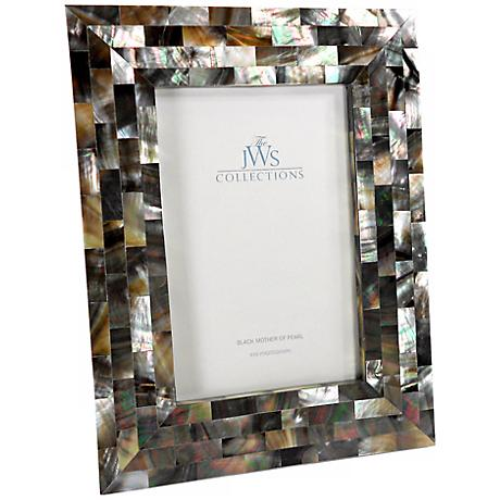 Black Mother of Pearl 4x6 Photo Frame