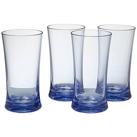 Set of 4 Pacific Blue 17 Oz. Highball Tumblers