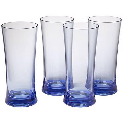 Set of 4 Pacific Blue 22 Oz. Polycarbonate Cooler Tumblers