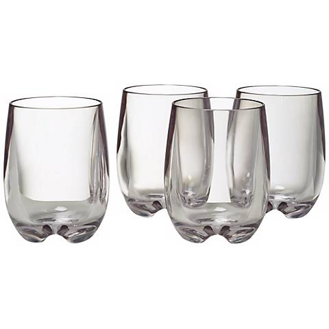 Set of 4 Clear Osteria Chardonnay Glasses