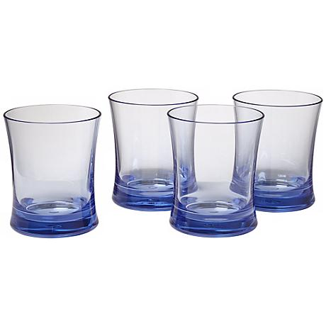 Set of 4 Pacific Blue 10 Oz. Polycarbonate Tumblers