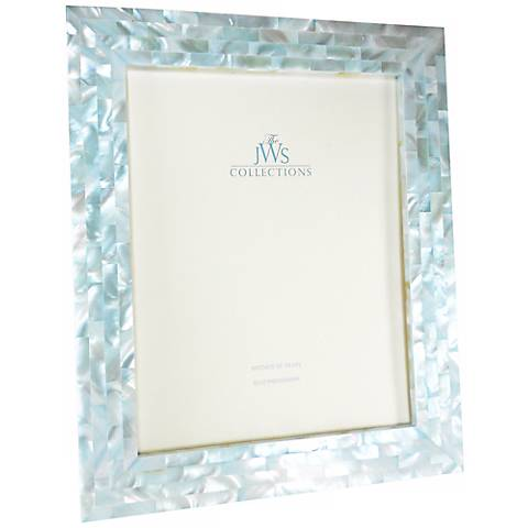 blue mother of pearl 8x10 frame